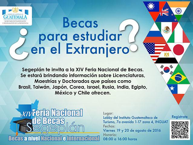 Invitación a participar en la XIV Feria Nacional de Becas 2016.