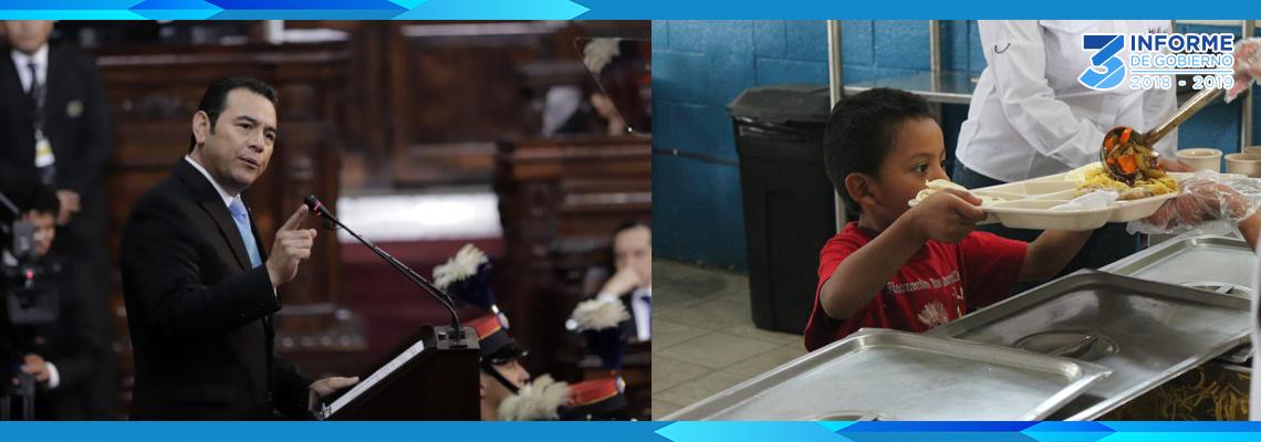 Informe de Gobierno: lucha contra la desnutrición infantil está firme, destaca presidente Morales