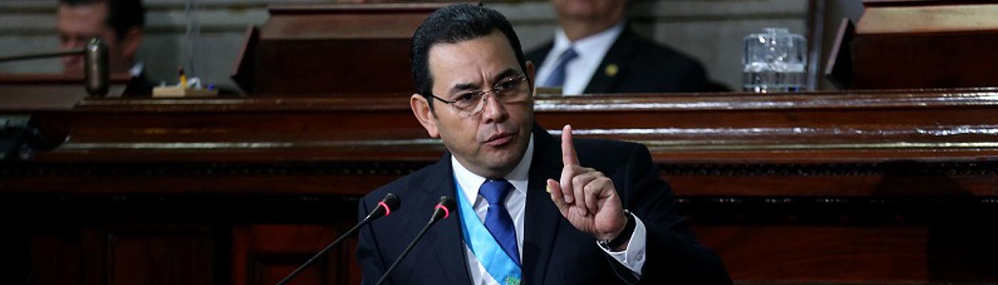 """Presidente Morales: """"Ni un paso atrás, por Guatemala todo, para eso fui electo y por ello viviré"""""""
