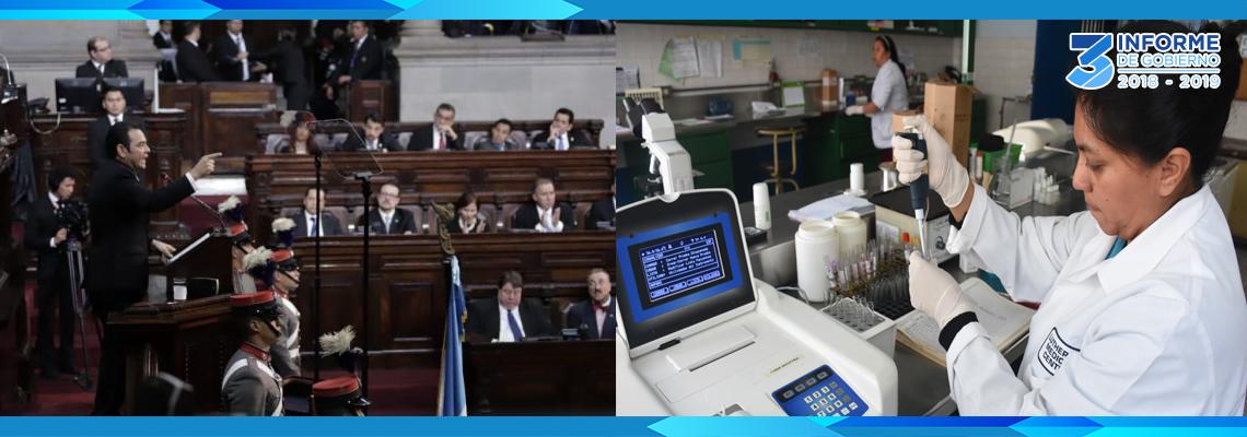 Informe de Gobierno: presidente Morales destaca reforma al sector salud con impulso a vacunación y abastecimiento de medicinas