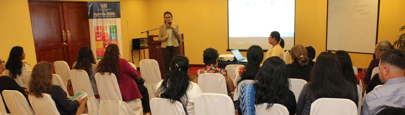 Segeplán expone a mujeres retos para implementar la Agenda ODS priorizada
